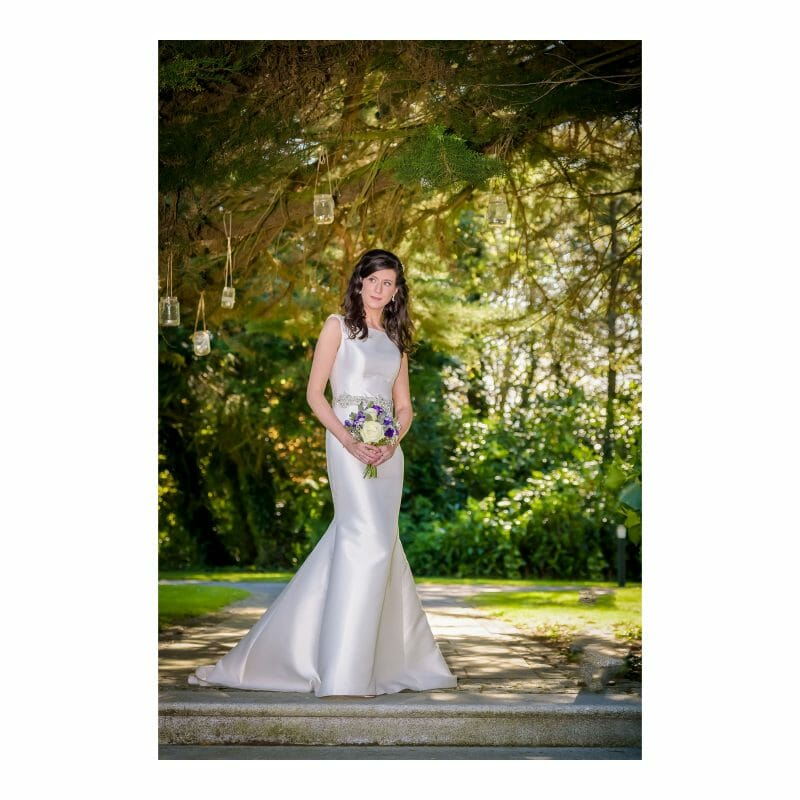 Summer Bridal Portrait in Trees