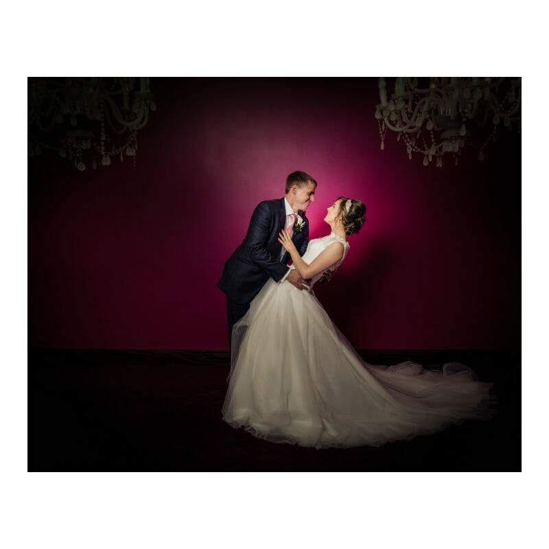 Bride and groom romantic dance Westgrove Hotel